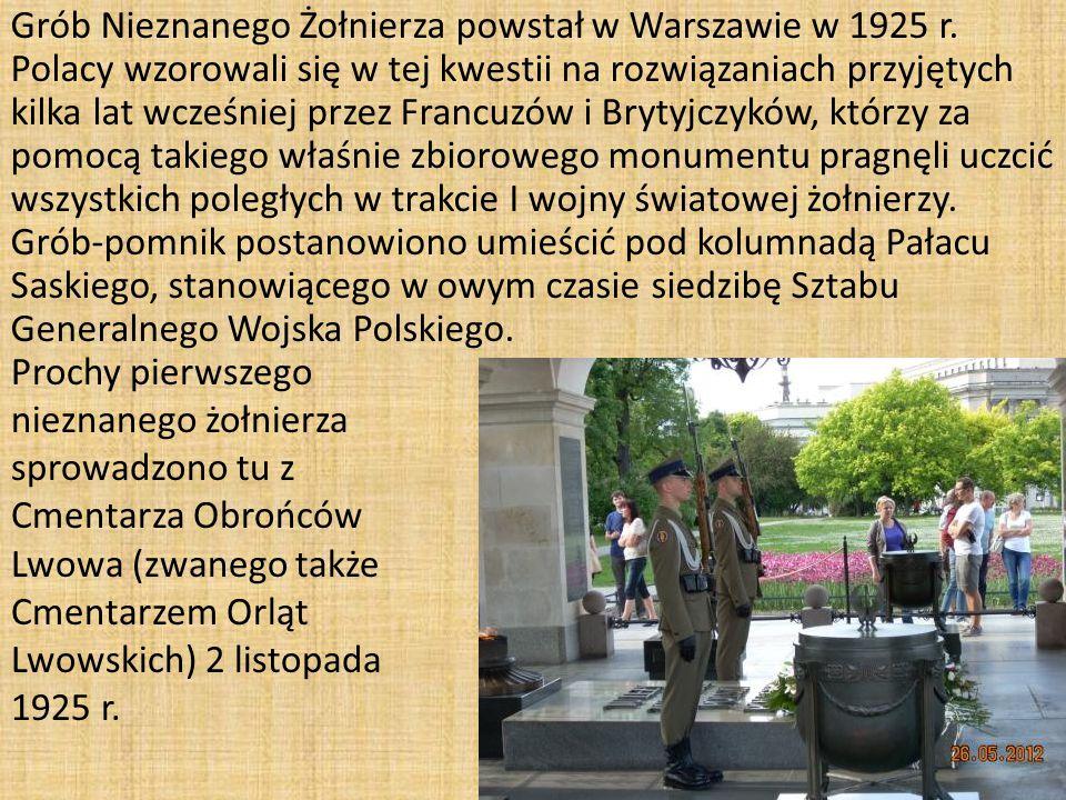 Grób Nieznanego Żołnierza powstał w Warszawie w 1925 r.