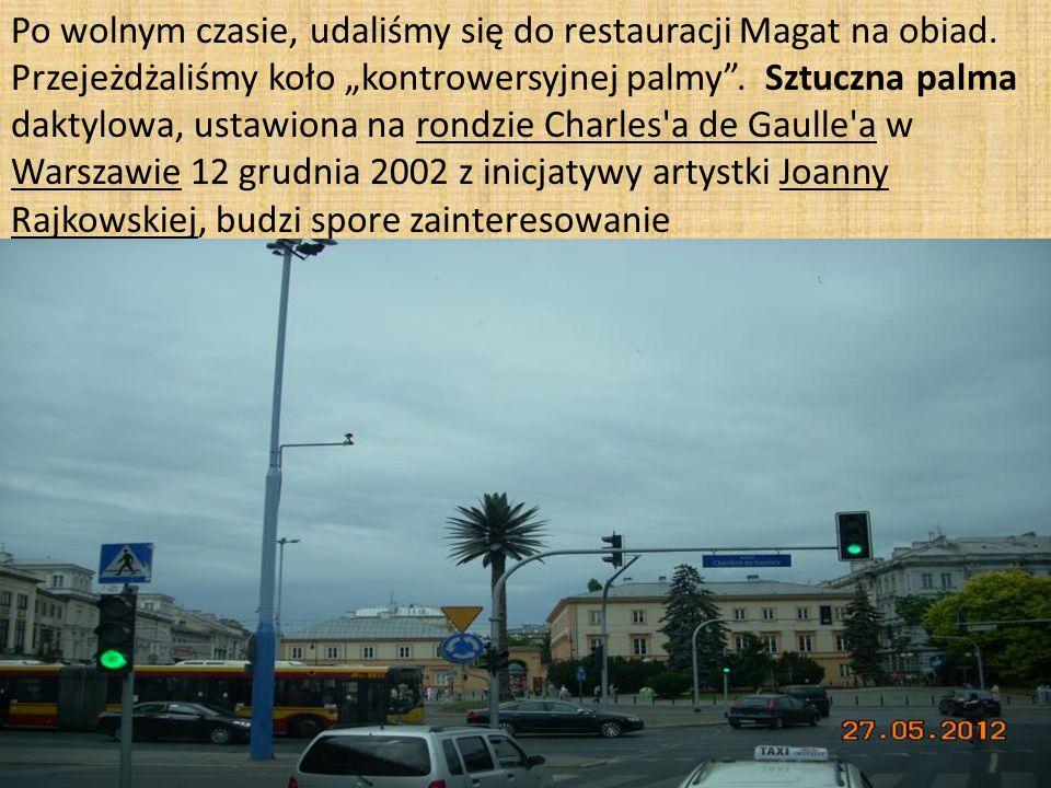 Po wolnym czasie, udaliśmy się do restauracji Magat na obiad.