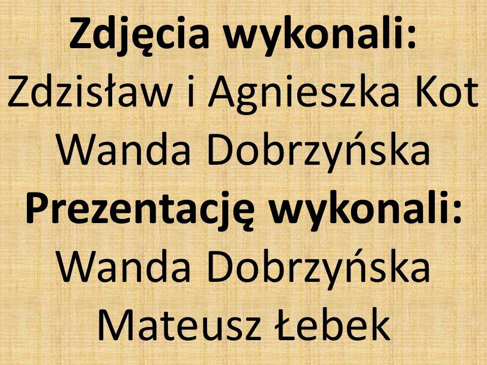 Zdjęcia wykonali: Zdzisław i Agnieszka Kot Wanda Dobrzyńska Prezentację wykonali: Wanda Dobrzyńska Mateusz Łebek
