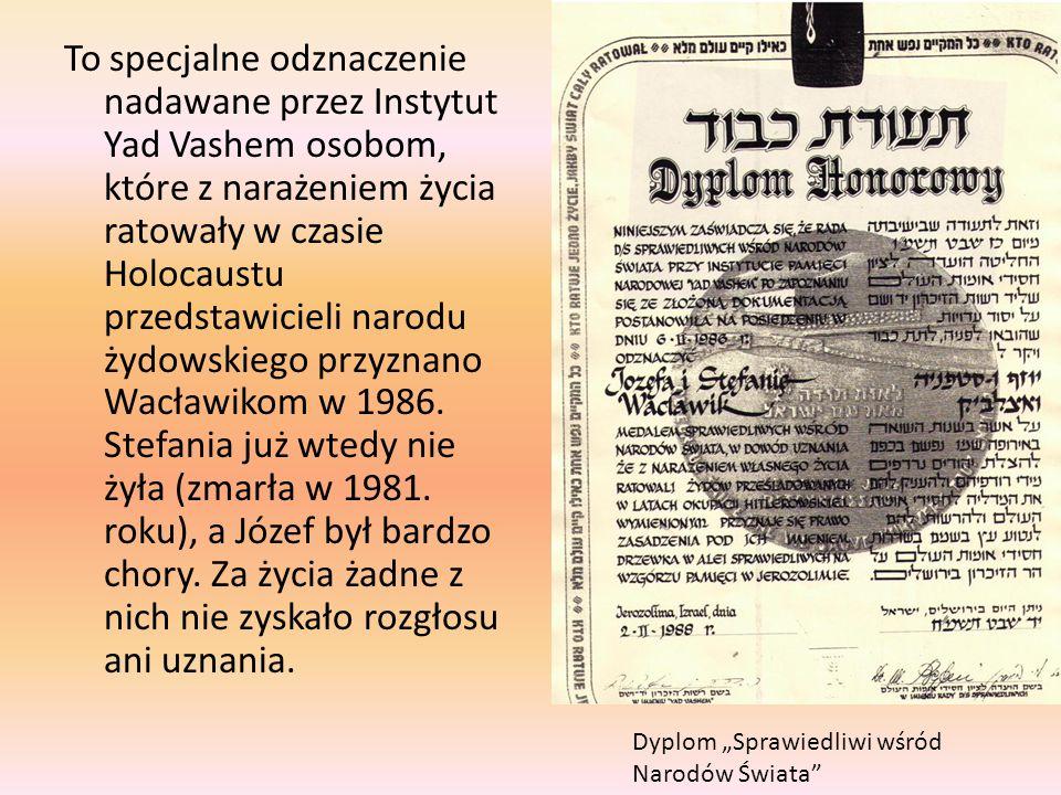 To specjalne odznaczenie nadawane przez Instytut Yad Vashem osobom, które z narażeniem życia ratowały w czasie Holocaustu przedstawicieli narodu żydow