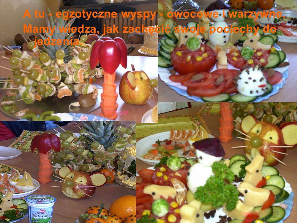 A tu - egzotyczne wyspy - owocowe i warzywne. Mamy wiedzą, jak zachęcić swoje pociechy do jedzenia.
