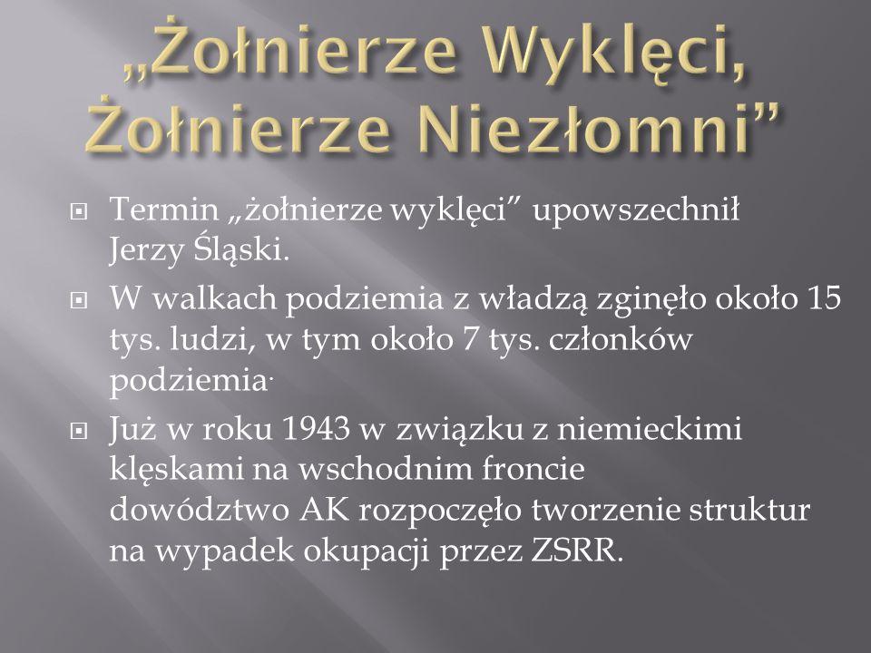  Powstała organizacja NIE łącząca struktury cywilne i wojskowe, mająca na celu samoobronę i podtrzymywanie morale polskiego społeczeństwa w oczekiwaniu na wojnę Zachodu z ZSRR.