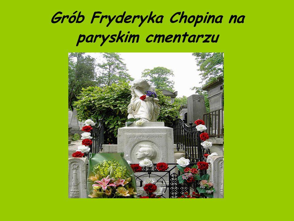 Grób Fryderyka Chopina na paryskim cmentarzu