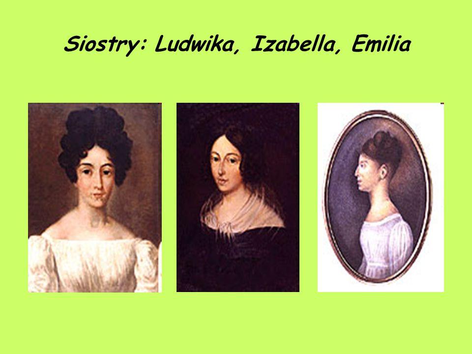Siostry: Ludwika, Izabella, Emilia