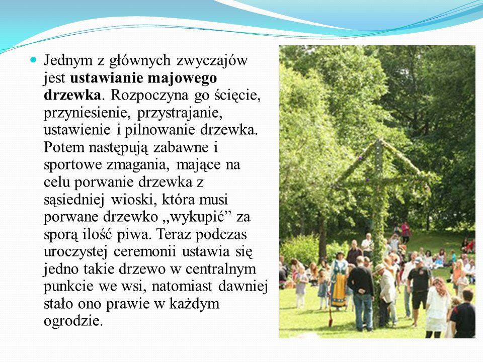 Jednym z głównych zwyczajów jest ustawianie majowego drzewka.