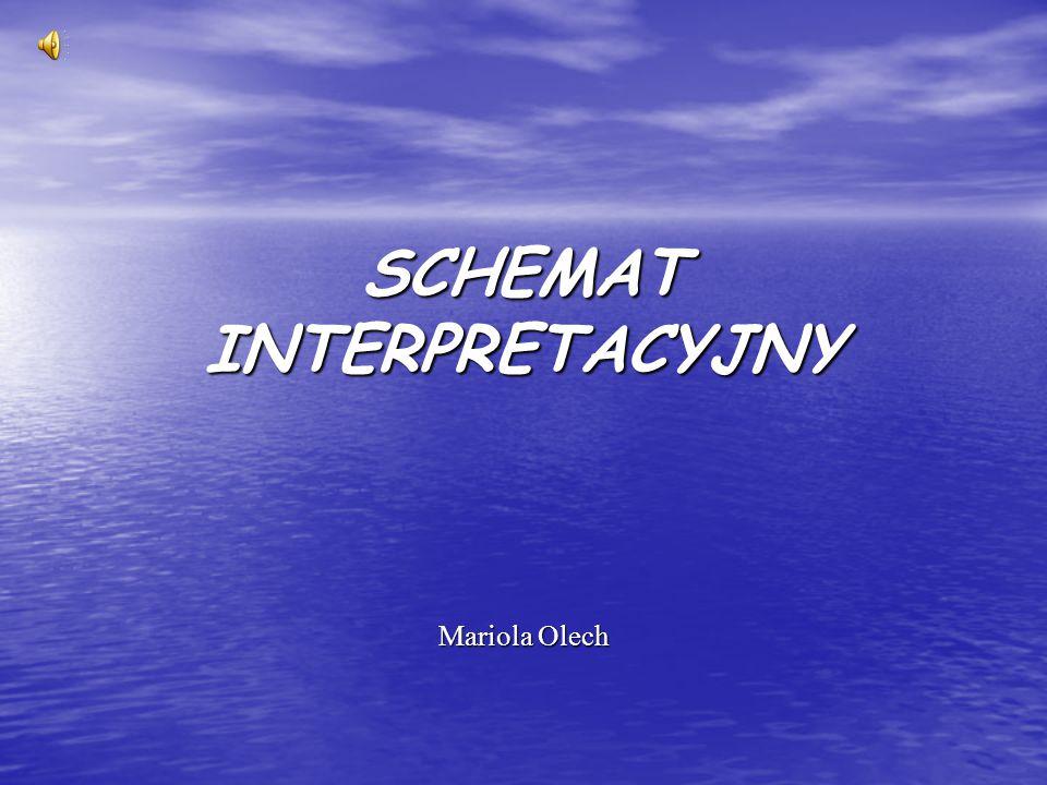 SCHEMAT INTERPRETACYJNY Mariola Olech