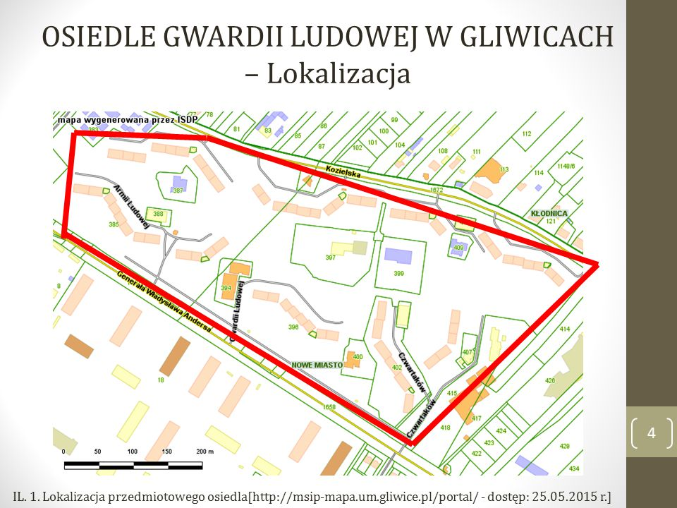 4 OSIEDLE GWARDII LUDOWEJ W GLIWICACH – Lokalizacja IL.