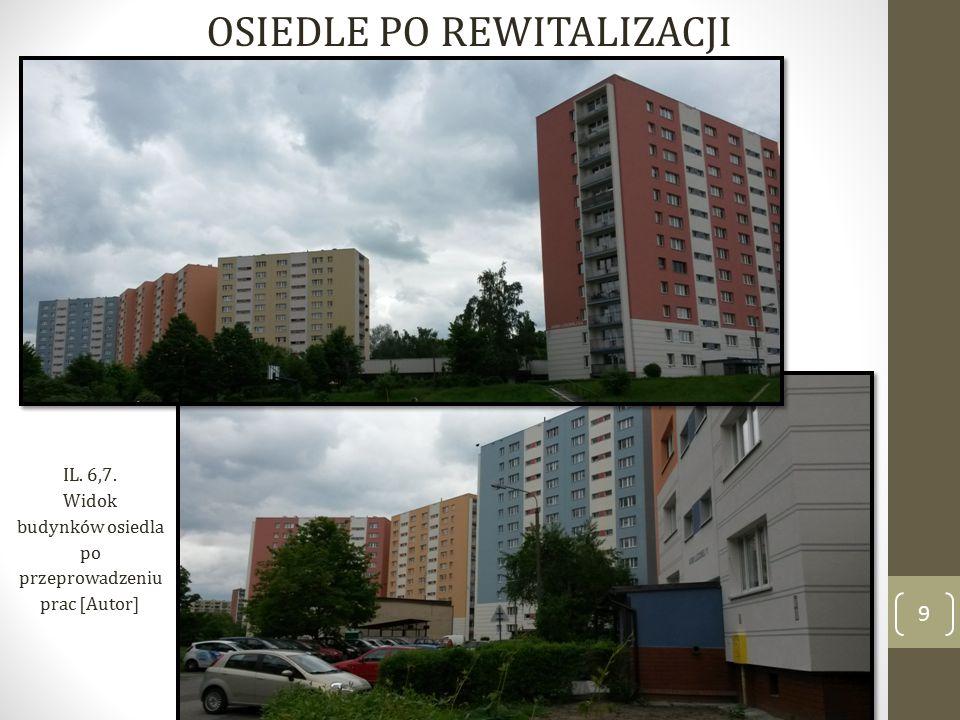 9 OSIEDLE PO REWITALIZACJI IL. 6,7. Widok budynków osiedla po przeprowadzeniu prac [Autor]