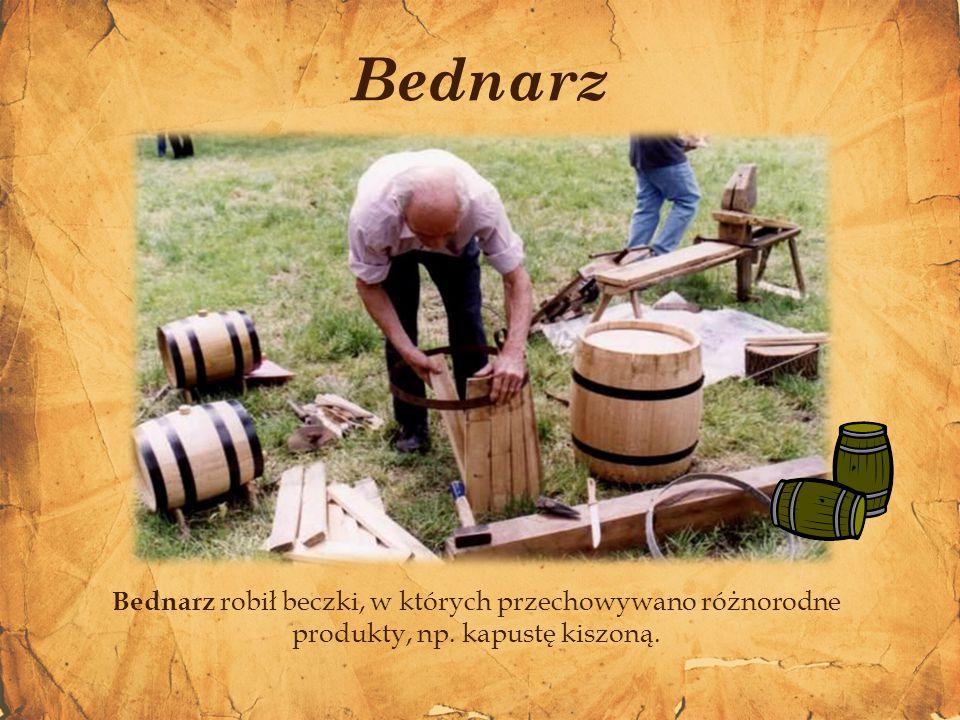 Bartnik (pszczelarz), zajmował się hodowlą pszczół leśnych i zbieraniem miodu. Bartnik