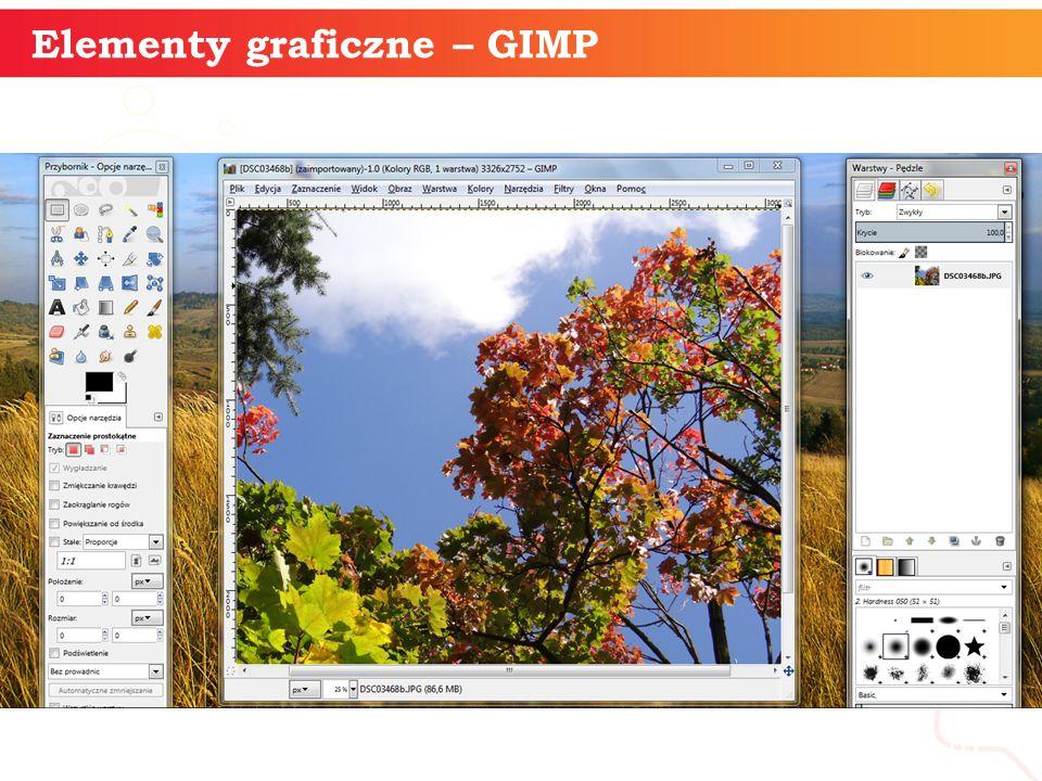 informatyka + 10 Elementy graficzne – GIMP