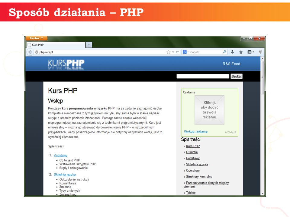 informatyka + 11 Sposób działania – PHP