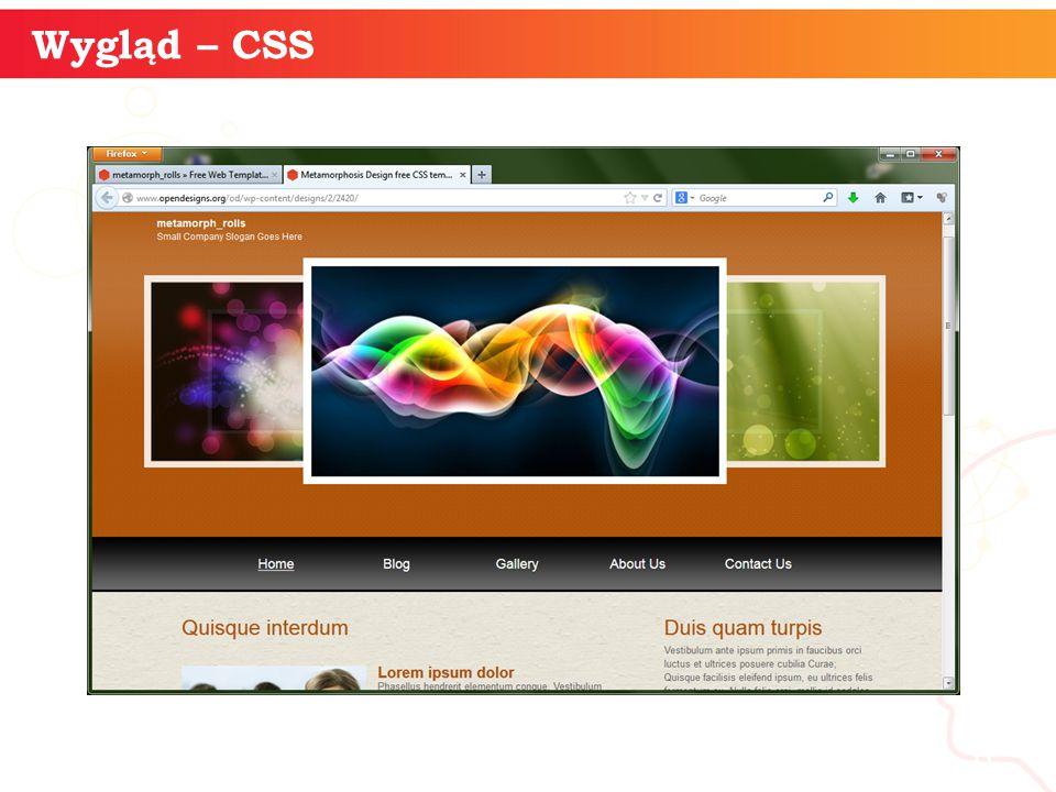 informatyka + 6 Wygląd – CSS