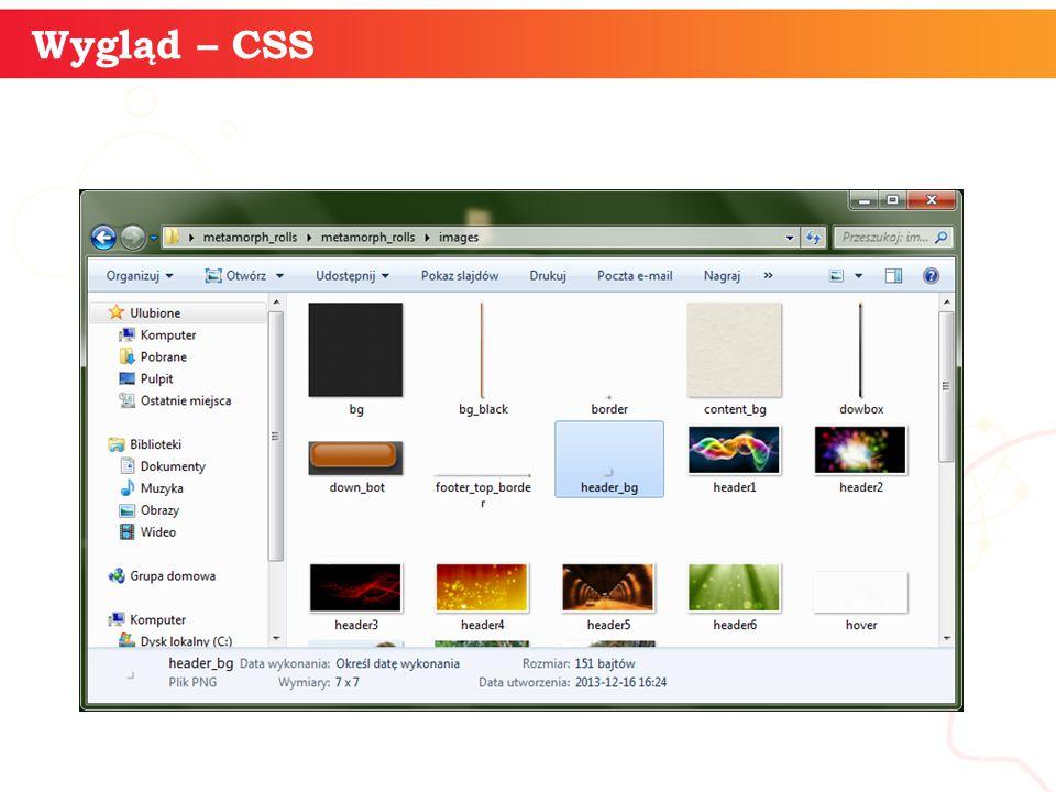 informatyka + 7 Wygląd – CSS