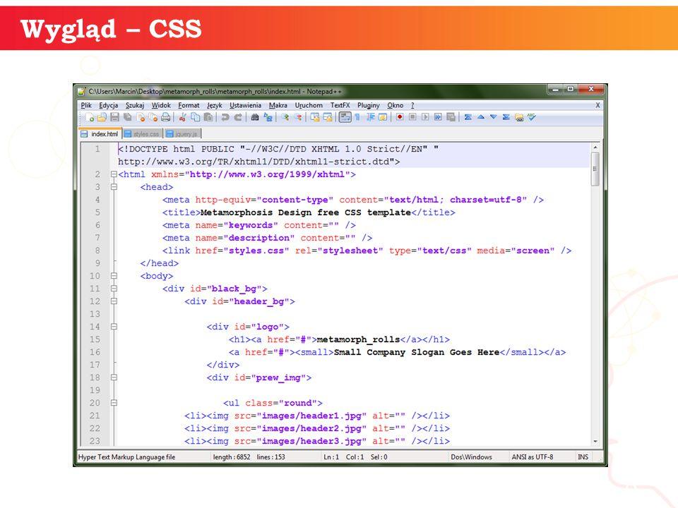 informatyka + 8 Wygląd – CSS