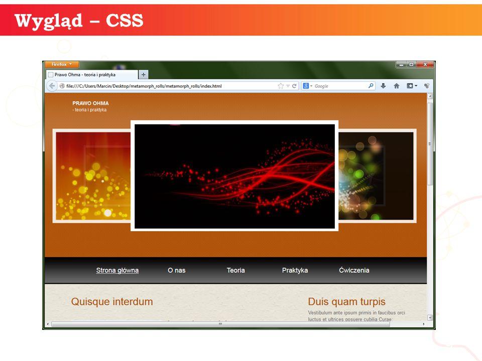 informatyka + 9 Wygląd – CSS