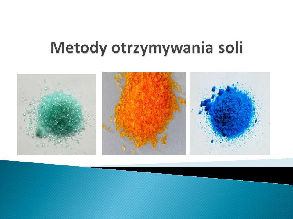 REAKCJE ZOBOJĘTNIANIA Zasada + Kwas  sól + woda HCl + NaOH => NaCl + H 2 O