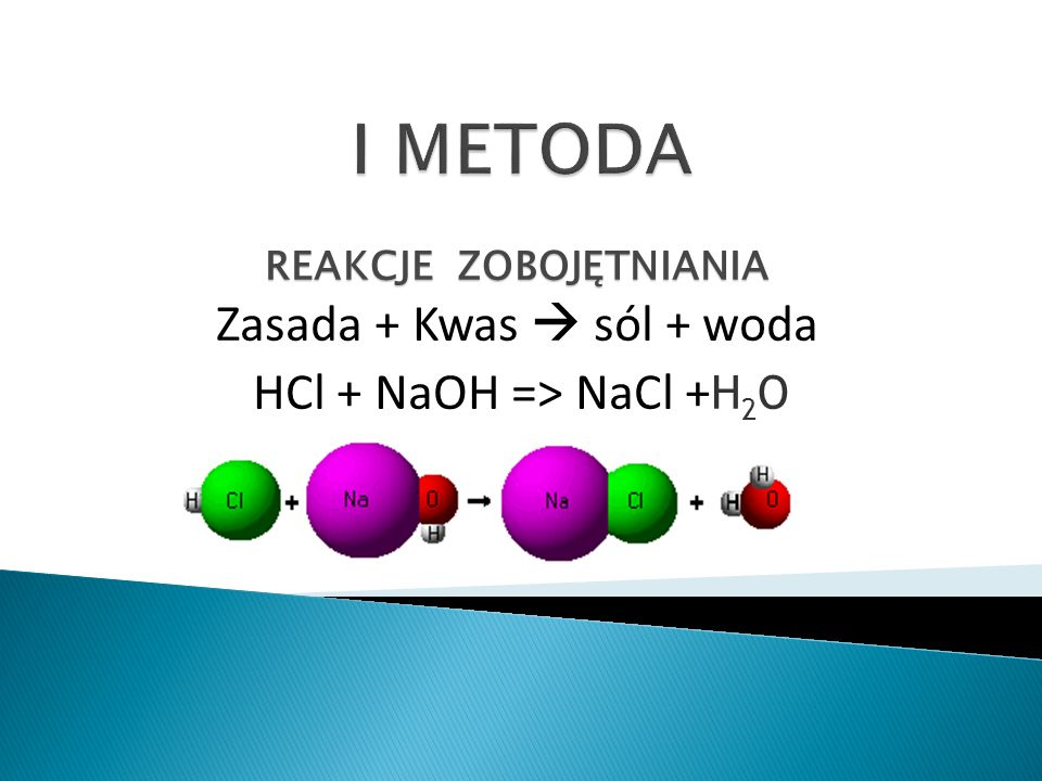 Sól rozpuszczalna + sól rozpuszczalna -> sól nierozpuszczalna + sól rozpuszczalna NaCl + AgNO 3 -> AgCl  + NaNO 3