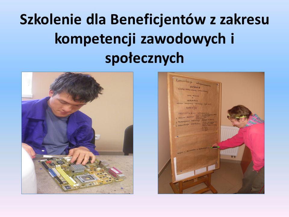 Szkolenie dla Beneficjentów z zakresu kompetencji zawodowych i społecznych