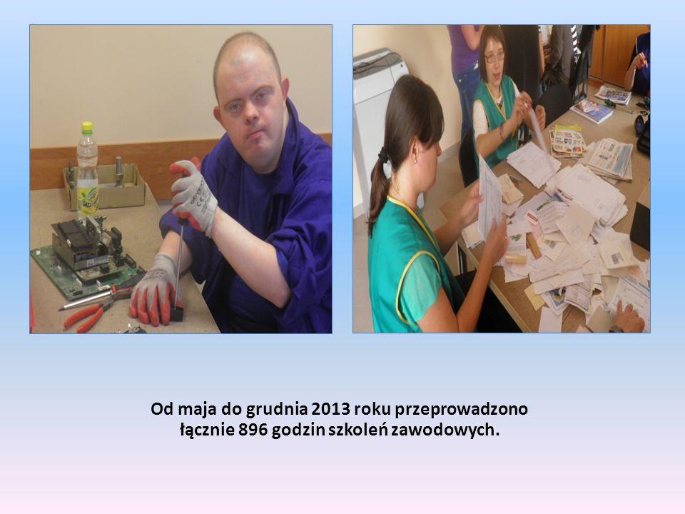 Od maja do grudnia 2013 roku przeprowadzono łącznie 896 godzin szkoleń zawodowych.