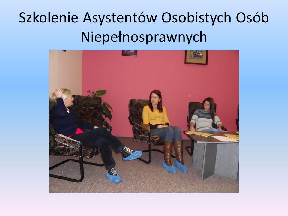 Szkolenie Asystentów Osobistych Osób Niepełnosprawnych.