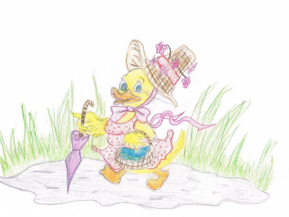 """""""Duck – freak / """" Kaczka dziwaczka Nad rzeczką opodal krzaczka Mieszkała kaczka-dziwaczka, Lecz zamiast trzymać się rzeczki Robiła piesze wycieczki"""