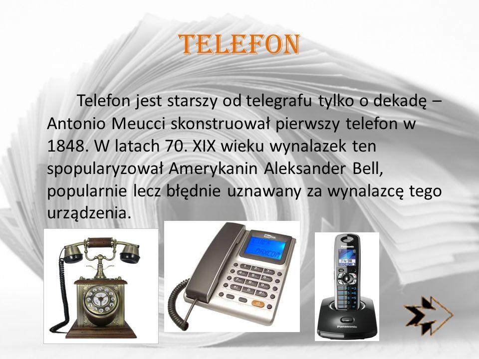 FaX W dwudziestym wieku popularnym dodatkiem do telefonu był fax, oparty na wynalazku Rudolfa Hella z 1929 roku.