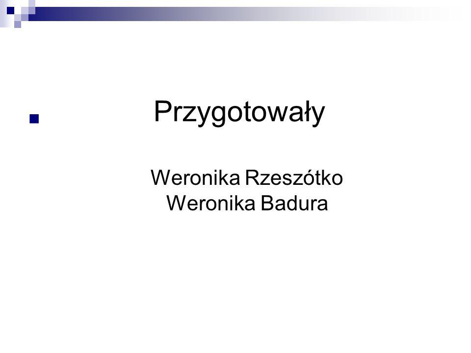 Przygotowały Weronika Rzeszótko Weronika Badura