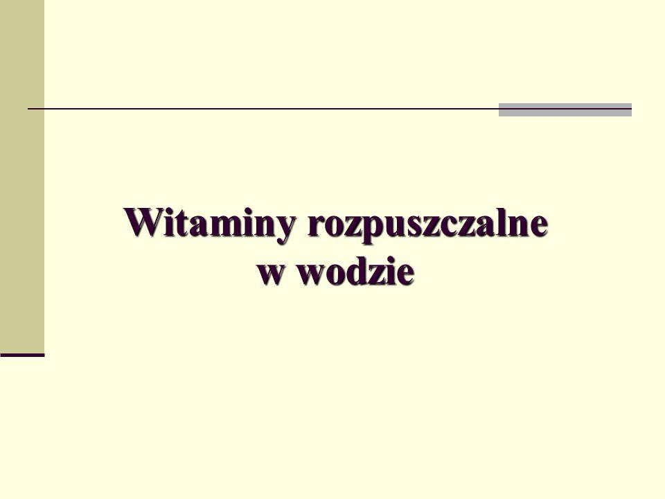  Witamina B 1 (tiamina, aneuryna):  Odgrywa dużą rolę w przemianach węglowodanów, przyśpiesza gojenie ran, uśmierza ból.