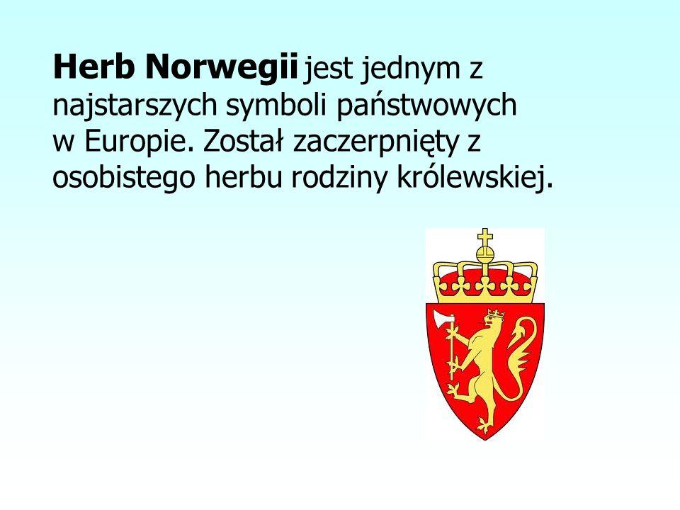 Herb Norwegii jest jednym z najstarszych symboli państwowych w Europie. Został zaczerpnięty z osobistego herbu rodziny królewskiej.