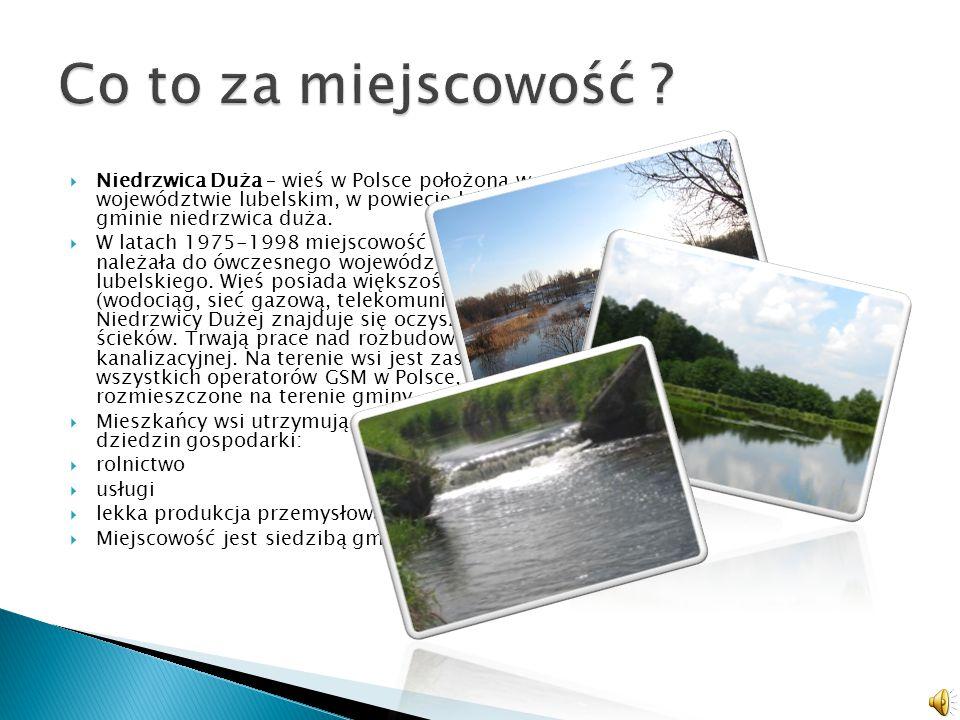 NNiedrzwica Duża – wieś w Polsce położona w województwie lubelskim, w powiecie lubelskim, w gminie niedrzwica duża.