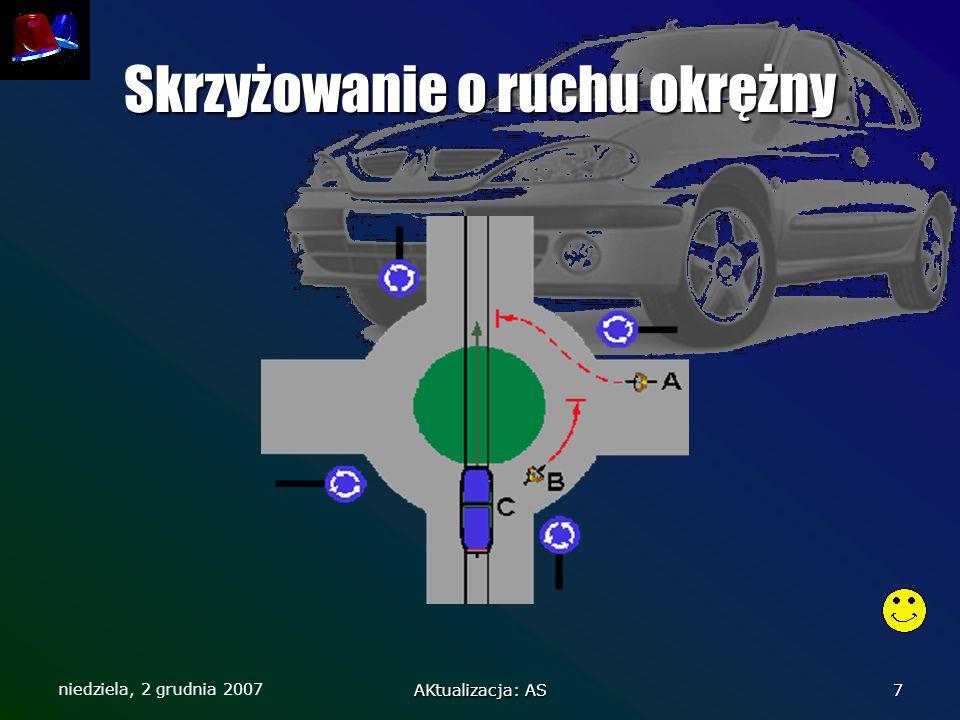 niedziela, 2 grudnia 2007 AKtualizacja: AS 7 Skrzyżowanie o ruchu okrężny