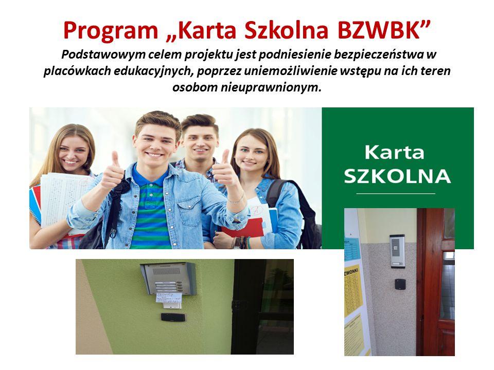 """Program """"Karta Szkolna BZWBK"""" Podstawowym celem projektu jest podniesienie bezpieczeństwa w placówkach edukacyjnych, poprzez uniemożliwienie wstępu na"""