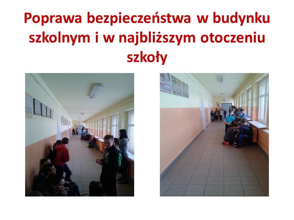Poprawa bezpieczeństwa w budynku szkolnym i w najbliższym otoczeniu szkoły