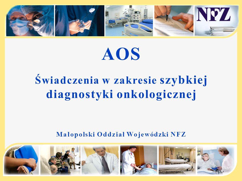 AOS Świadczenia w zakresie szybkiej diagnostyki onkologicznej Małopolski Oddział Wojewódzki NFZ