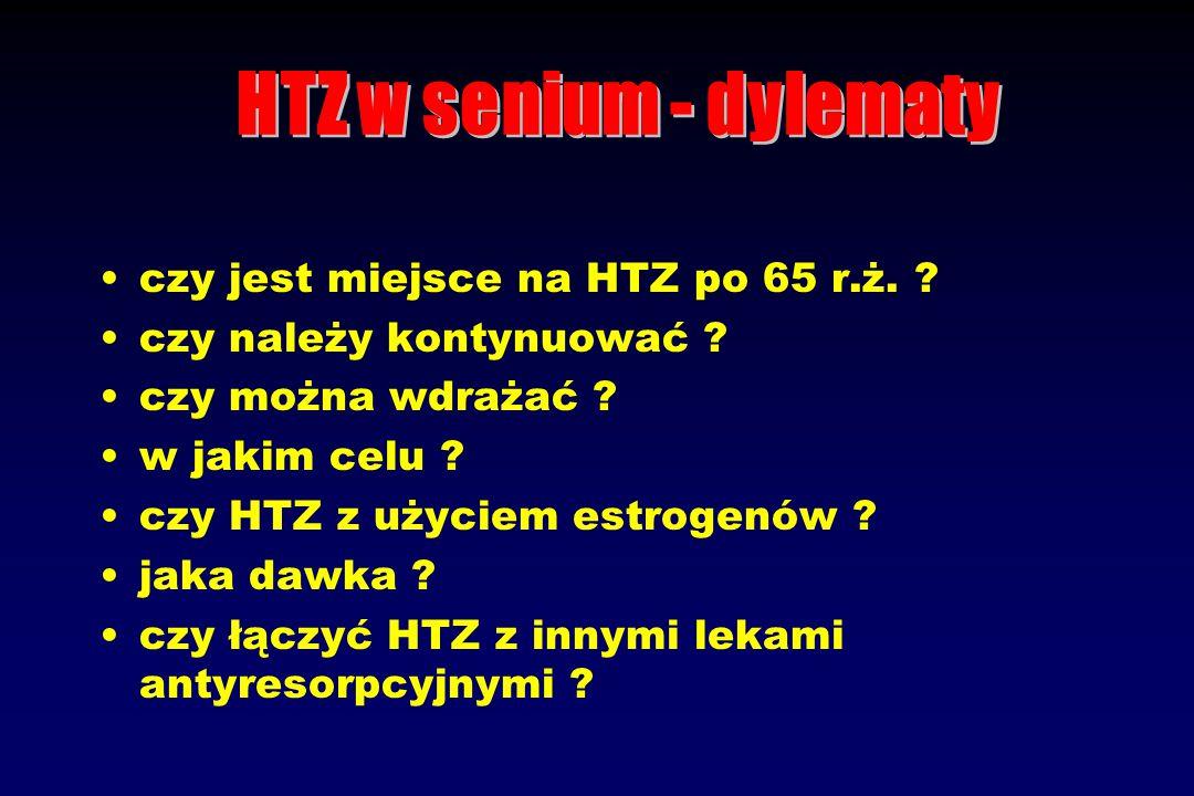 Opisano kilka przypadków Haematometra po wdrożeniu HTZ u kobiet po 65 r.ż.