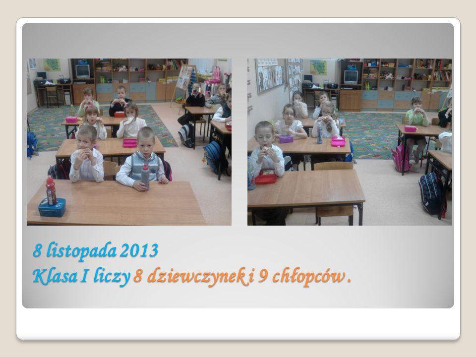 8 listopada 2013 Klasa I liczy 8 dziewczynek i 9 chłopców.