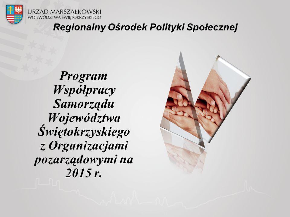 Regionalny Ośrodek Polityki Społecznej Program Współpracy Samorządu Województwa Świętokrzyskiego z Organizacjami pozarządowymi na 2015 r.