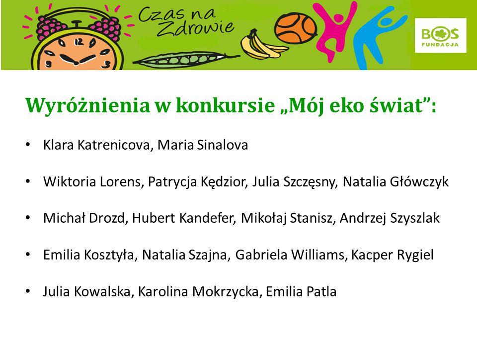 "Laureaci konkursu ""Mój eko świat"": III miejsce Natalia Paluvova Vanessa Kubinova Klara Vancikova"