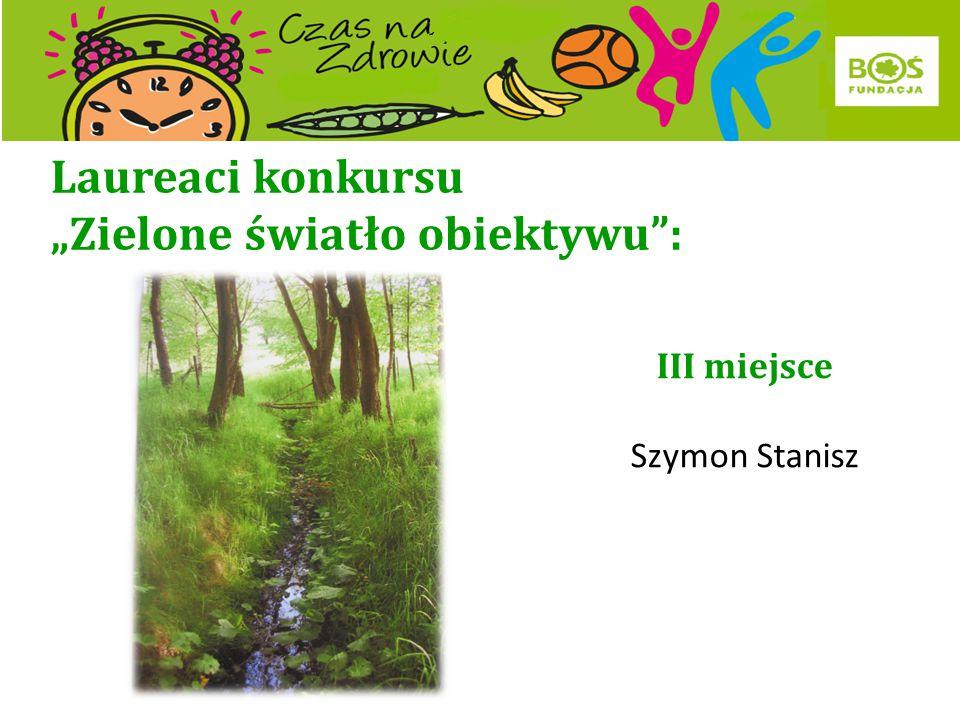 """Laureaci konkursu """"Zielone światło obiektywu : II miejsce Tobias Stas"""