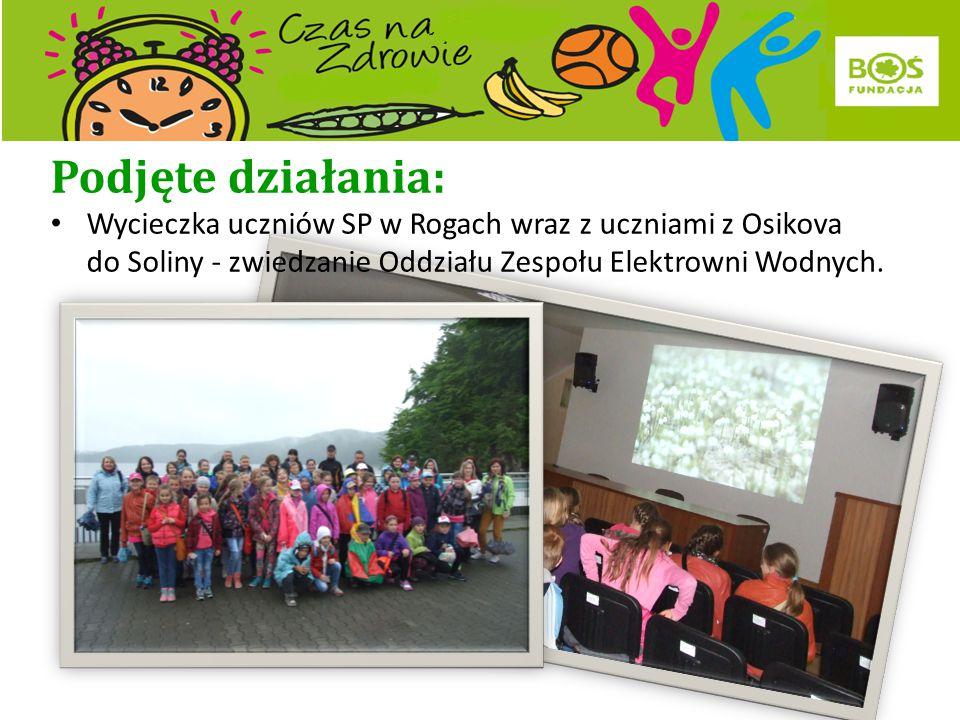 Podjęte działania: Turniej sportowy dla uczniów z Rogów i Osikova.