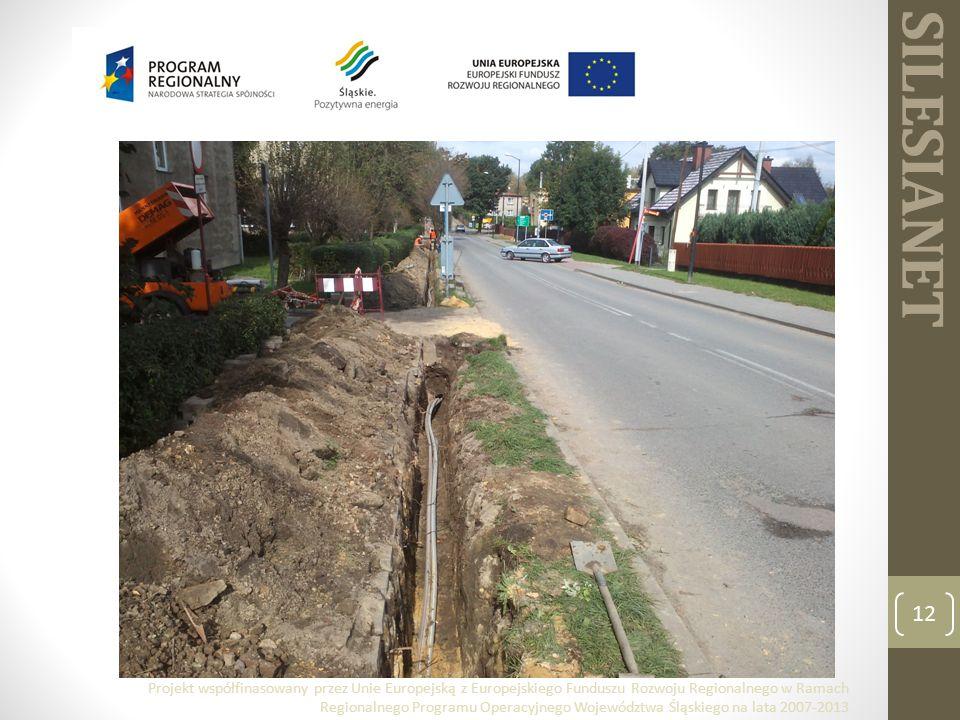 SILESIANET 12 Projekt współfinasowany przez Unie Europejską z Europejskiego Funduszu Rozwoju Regionalnego w Ramach Regionalnego Programu Operacyjnego Województwa Śląskiego na lata 2007-2013