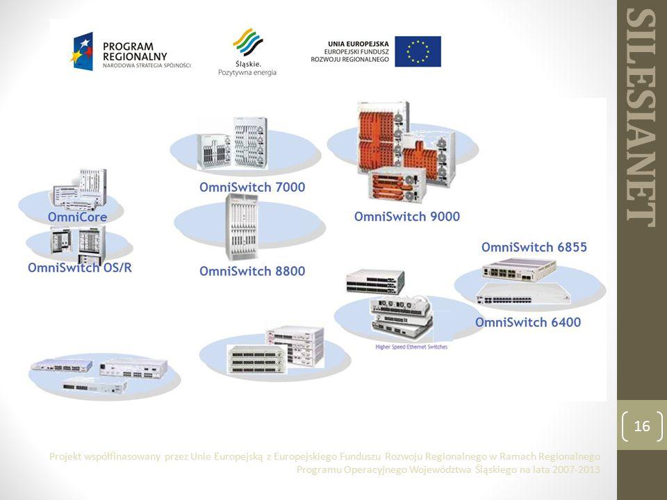 SILESIANET 16 Projekt współfinasowany przez Unie Europejską z Europejskiego Funduszu Rozwoju Regionalnego w Ramach Regionalnego Programu Operacyjnego Województwa Śląskiego na lata 2007-2013