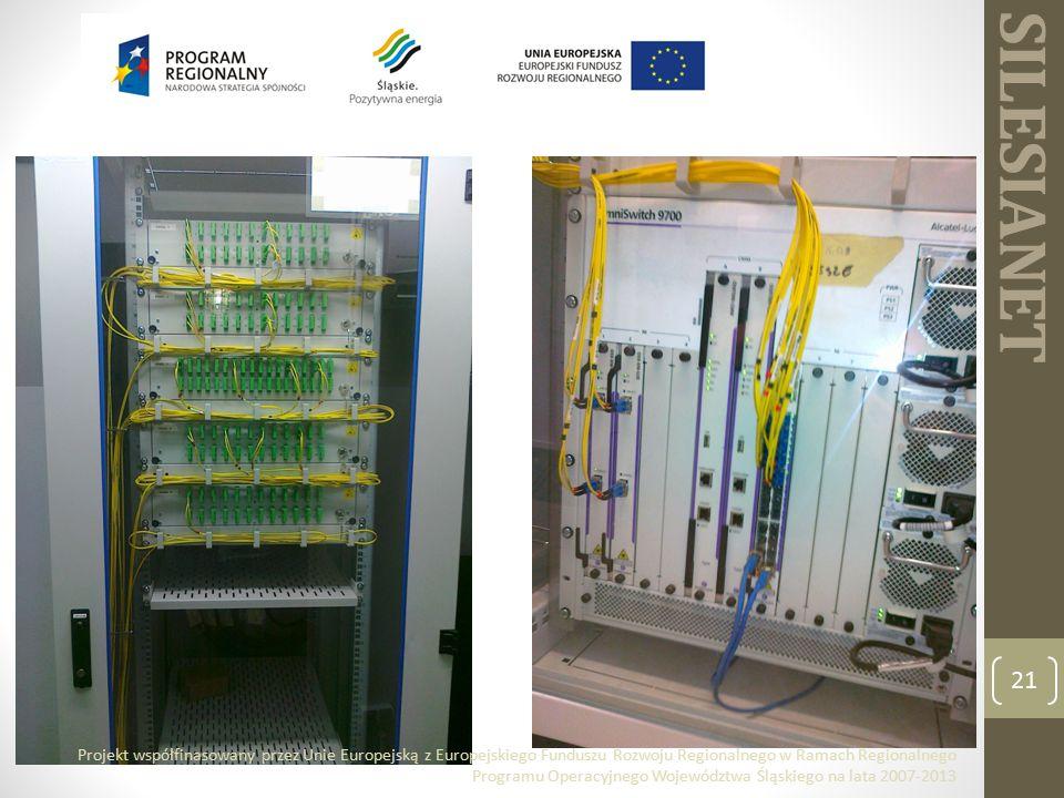 SILESIANET 21 Projekt współfinasowany przez Unie Europejską z Europejskiego Funduszu Rozwoju Regionalnego w Ramach Regionalnego Programu Operacyjnego Województwa Śląskiego na lata 2007-2013