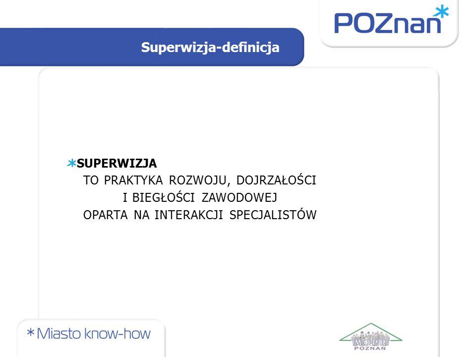 Superwizja-definicja SUPERWIZJA TO PRAKTYKA ROZWOJU, DOJRZAŁOŚCI I BIEGŁOŚCI ZAWODOWEJ OPARTA NA INTERAKCJI SPECJALISTÓW