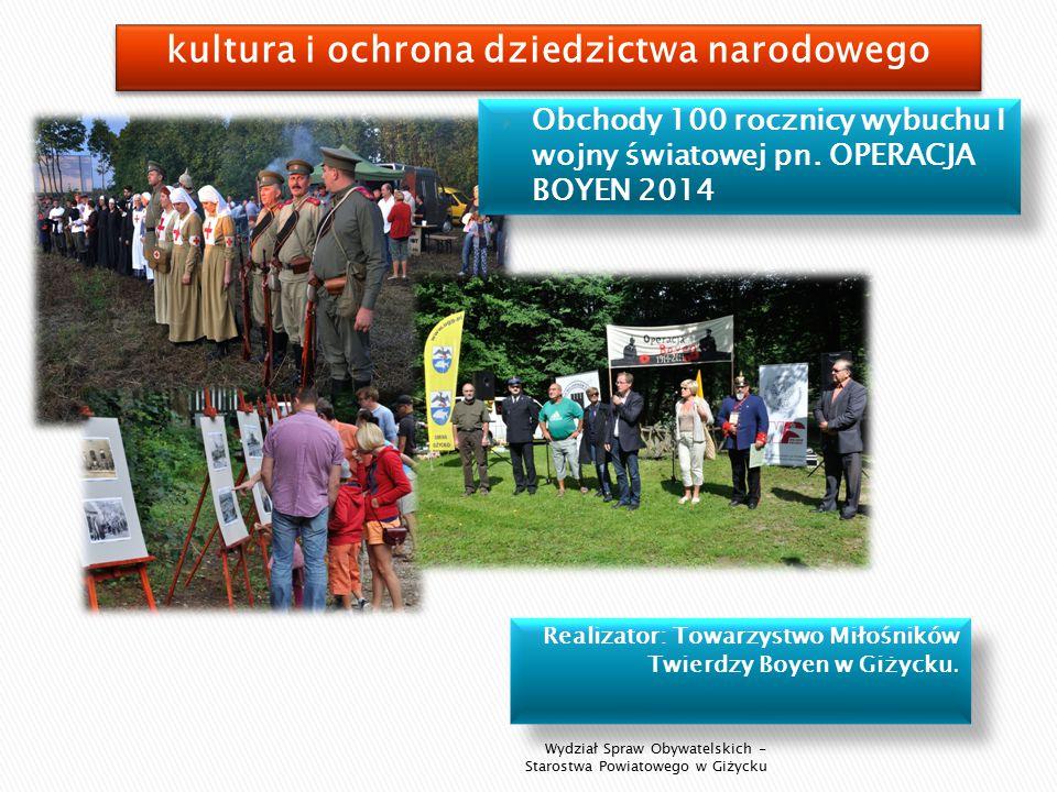 Realizator: Towarzystwo Miłośników Twierdzy Boyen w Giżycku.