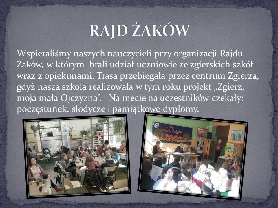 Wspieraliśmy naszych nauczycieli przy organizacji Rajdu Żaków, w którym brali udział uczniowie ze zgierskich szkół wraz z opiekunami. Trasa przebiegał