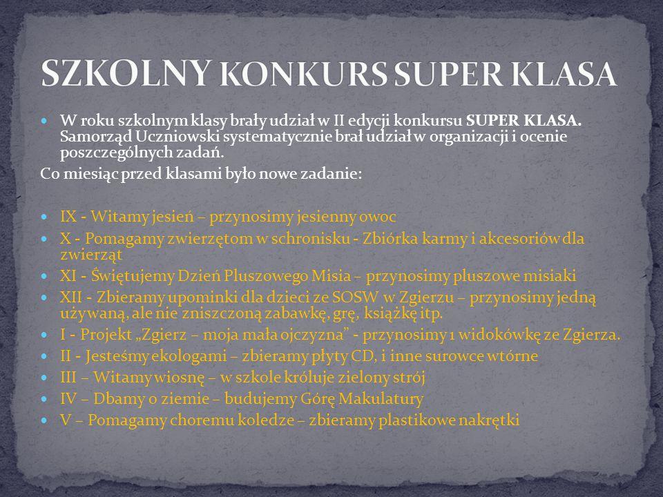 Samorząd Uczniowski prowadził tablicę informacyjną na holu szkoły a także zamieszczał aktualne informacje na stronie internetowej naszej szkoły.