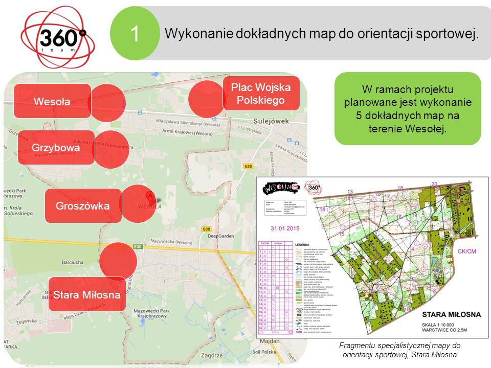 Fazy projektu Wykonanie dokładnych map do orientacji sportowej.