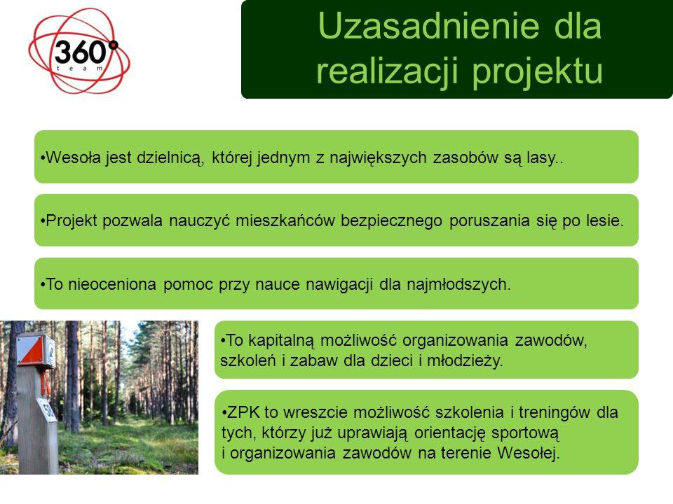 Uzasadnienie dla realizacji projektu Projekt pozwala nauczyć mieszkańców bezpiecznego poruszania się po lesie.