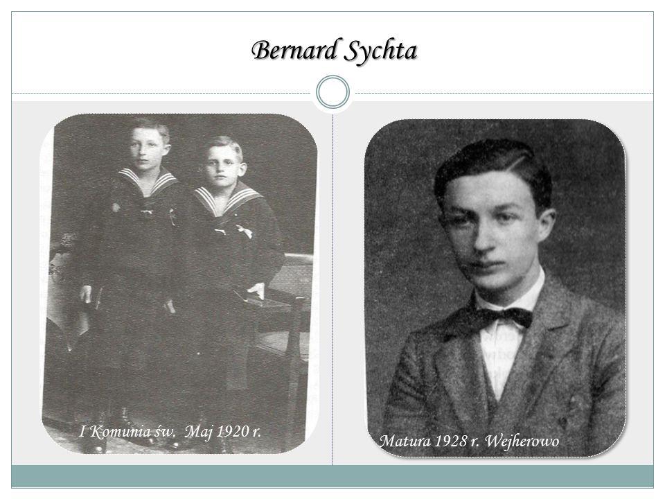 Bernard Sychta Pierwsza Komunia Święta maj 1920 r. Matura 1928 r. Wejherowo I Komunia św. Maj 1920 r.